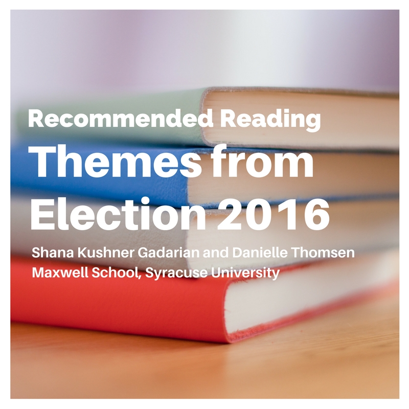 Recommended Reading: Themes from Election 2016
