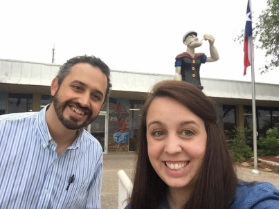 Your TCU Justice Journey professors, Dr. Emily and Dr. Max, are excited to be in Crystal City: spinach capitol of the world and home to the 1969 walk out in the Chicano Movement.