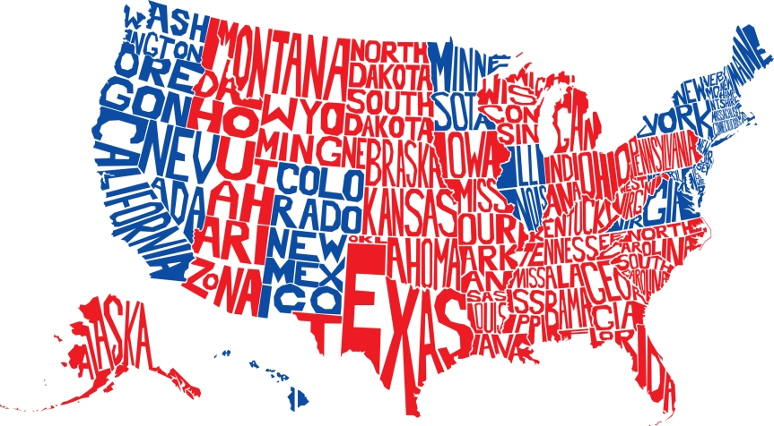 USA Word Map Election